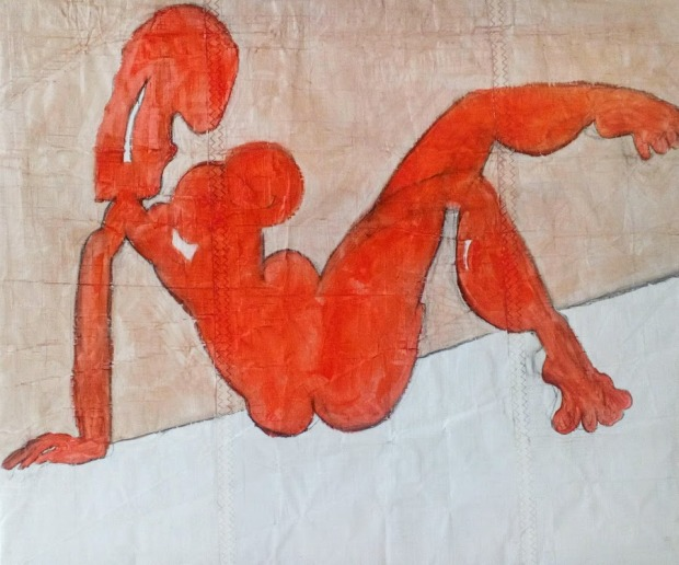 Red nude on sail